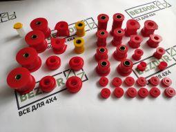 Комплект поліуретанових втулок GreenMile4x4 для Mitsubishi Pajero I/ Hyundai Galloper (на важелях 60мм)