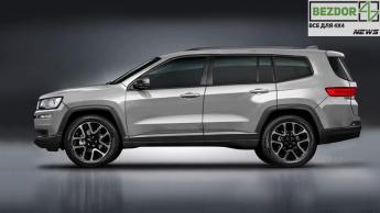Jeep Grand Cherokee будет длиннее и мощнее
